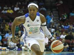Guard Cappie Pondexter, driving here in a game Sunday,  scored 22 points to lift the Liberty on Wednesday.