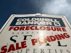 A foreclosure sale pending sign in Tigard, Ore. in 2011.