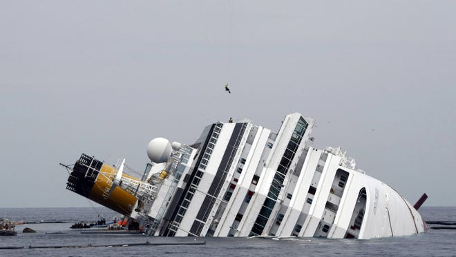 Costa Cruises' Costa Concordia ran aground off the coast of Italy on Jan. 13, 2012.
