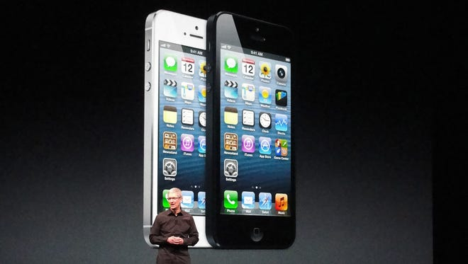 Apple CEO Tim Cook at the iPhone 5 event earlier in September.