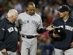 Derek Jeter leaves the field in the eighth inning Wednesday against the Red Sox.