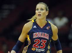 Indiana Fever guard/forward Katie Douglas is a strong advocate of Breast Cancer Awareness, having lost her mother to the disease.