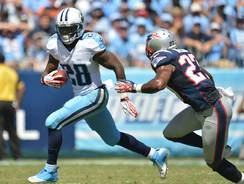 Fantasy owners shouldn't be too concerned that Titans tailback Chris Johnson, running after a catch Sunday vs. the Patriots, rushed 11 times for 4 yards in the game. Johnson likely will rebound Sunday against the Chargers.