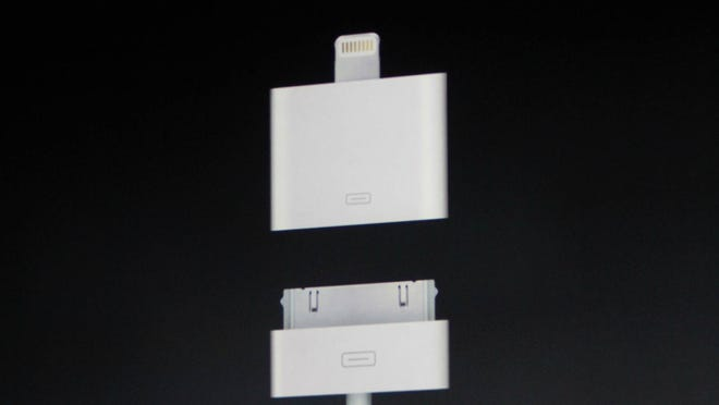The new Lightning connector for Apple devices.