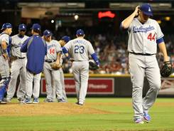 The Dodgers have lost four straight and seven of their last 10 games.