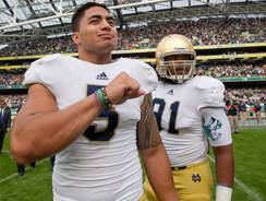 Notre Dame linebacker Manti Te'o will play with a heavy heart against Michigan State.
