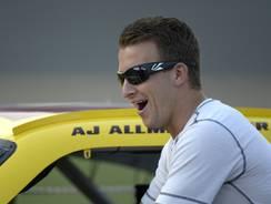 A.J. Allmendinger is shown July 6, the day before NASCAR suspended him.