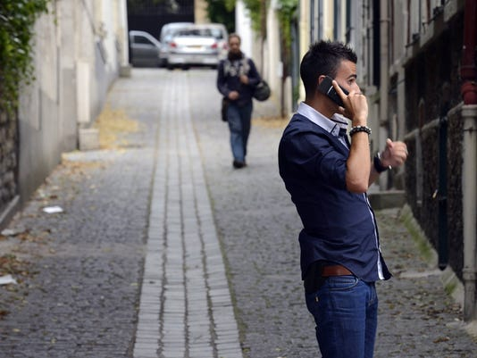 man on cell phone