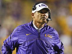 LSU head coach Les Miles, seen here on Sept. 8, has been the Tigers' head coach since 2005.
