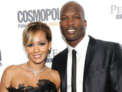 Chad Johnson and Evelyn Lozada in happier times last year.