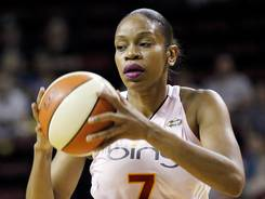 The Storm's Tina Thompson scored 10 points against the Sky to become the first player in WNBA history to surpass 7,000 career points. She reached the milestone during the first half of Tuesday's game.