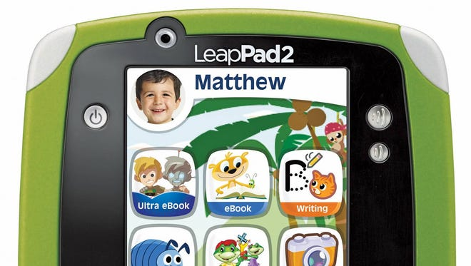 LeapPad 2 has front and back cameras and contain a variety of apps for kids to play learning games and listen to music.