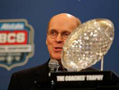BCS executive director Bill Hancock says when a selection committee for the new postseason format is finalized it will resemble basketball's in makeup.