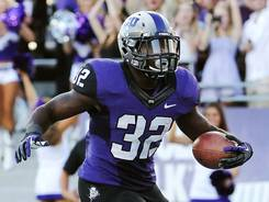 Waymon James led No. 16 TCU with 168 rushing yards and one touchdown.
