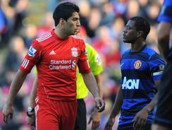 On Oct. 15, 2011, Liverpool's Luis Suarez and Manchester United's Patrice Evra had a verbal altercation in which Suarez allgedly used a racial slur, and was subsequently disciplined.