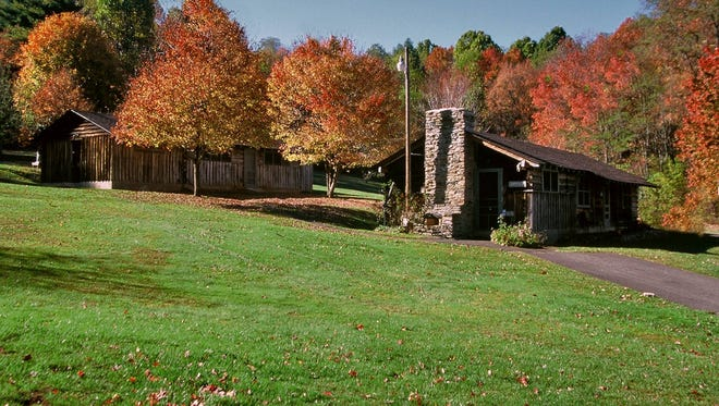 The Rocky Knob Cabins offer guests excellent viewpoints from which to enjoy the fall colors along the Blue Ridge Parkway.