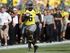 Oregon running back De'Anthony Thomas will provide a challenge for the Arizona defense Saturday.