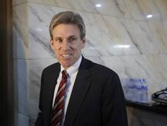U.S. envoy Chris Stevens attends meetings at the Tibesty Hotel in Benghazi, Libya, on April 11.