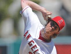 Jered Weaver hurled 6 1/3 innings, giving up one run and striking out four en route to his 19th win of the season.
