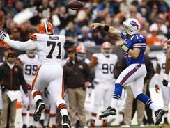 Quarterback Ryan Fitzpatrick (14) had a big day that helped the Bills get a rare road win.