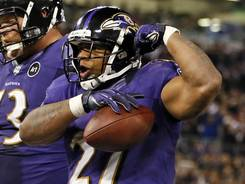 Ray Rice rushed for 101 yards and a TD in the Ravens' win over the Patriots.