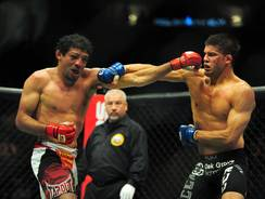 Gilbert Melendez (left) was forced to withdraw from Saturday's Strikeforce event, which has subsequently been canceled.