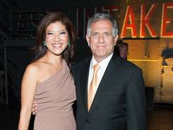"Les Moonves and wife Julie Chen attend Time Warner Cable And Showtime screening of ""Homeland"" Season 2  Sept.7, 2012 in New York City."