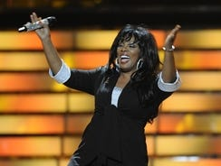 "The late Donna Summer does a guest appearance on ""American Idol"" in 2008."