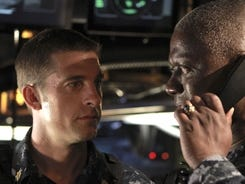 Captain Marcus Chaplin (Andre Braugher, right) leads a rogue U.S. nuclear submarine on 'Last Resort.' XO Sam Kendal (Scott Speedman) is Chaplin's right-hand man.