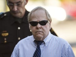 This June 20, 2012 file photo shows Harvey Updyke arriving to court as jury selection continues in his trial.