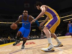 A scene from 'NBA Live 13.'
