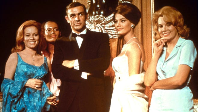 Sean Connery as 007 in 1965's Thunderball, one of the 22 Bond films featured in 'Bond 50.'