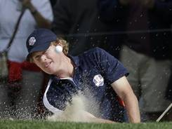 Brandt Snedeker, working on his bunker game during a practice round Thursday, will be in the first foursome pairing Friday morning with Jim Furyk against Rory McIlroy and Graeme McDowell.