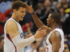 Blake Griffin (left) and Chris Paul should be healthy enough to play by the Clippers' opener Oct. 31.