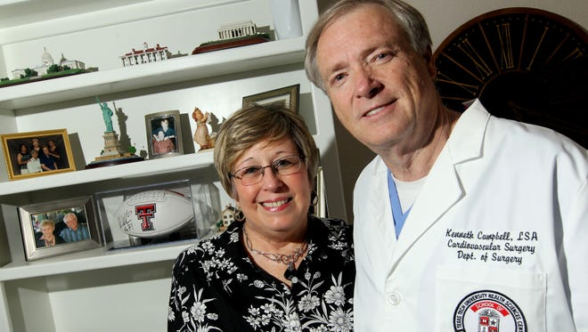 Ken Campbell, 58, with wife Debbie Campbell, is a surgical assistant who was stricken with pancreatic cancer.
