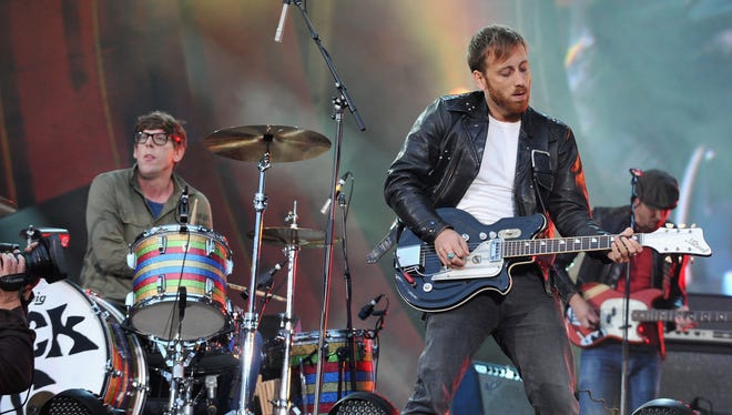 Patrick Carney and Dan Auerbach of The Black Keys perform at the Global Citizen Festival.