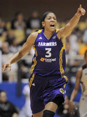Candace Parker poured in a game-high 32 points as the Sparks closed out the Silver Stars.