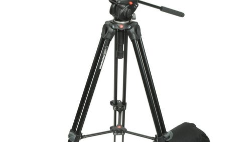This Manfrotto tripod is large enough to hold heavy cameras up to 9.7 pounds, but light enough for field usage.