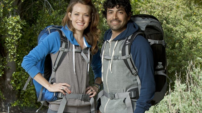 Amy Purdy (left) and Daniel Gale team on The Amazing Race. Purdy is a double-amputee who hopes to compete in Paralympic snowboarding.