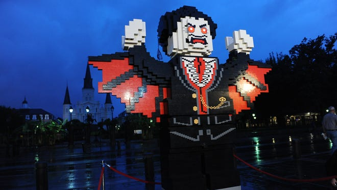 """A 10-foot model of the """"Monster Fighters"""" character Lord Vampyre was built by fans in New Orleans near Jackson Square."""