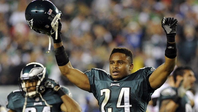 Eagles cornerback Nnamdi Asomugha was supposedly going to the hospital halfway through Sunday night's game, but eventually drew a penalty that helped the Eagles win.