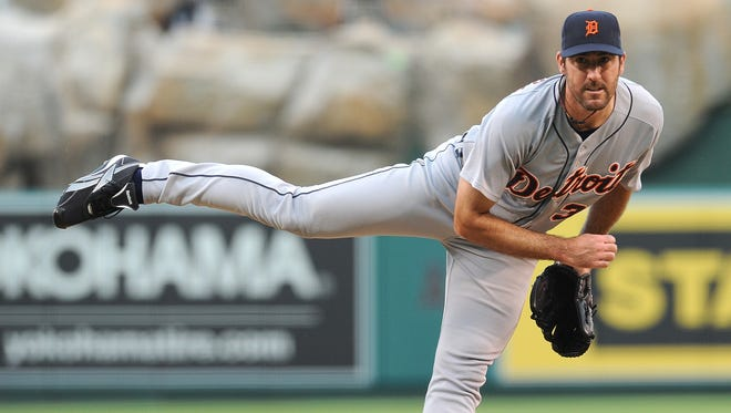 Tigers ace Justin Verlander, shown Aug. 11, followed up his Cy Young and MVP season of 2011 with a 17-8 record this year.