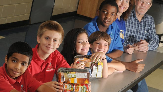Riviera elementary school, in Palm Bay, Fla., has about 150 students who benefit from The Children's Hunger Project, a charity that addresses weekend hunger.