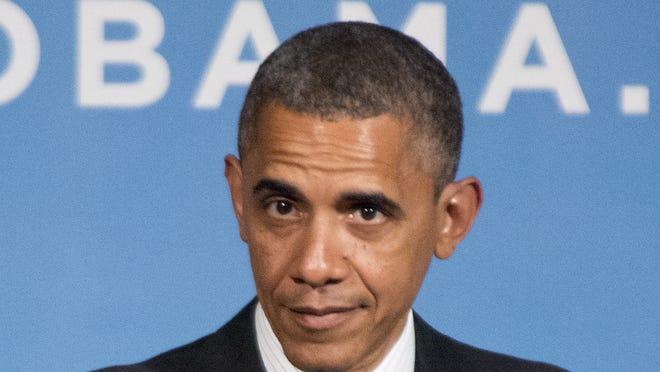 President Barack Obama speaks during a fundraiser event at the Capital Hilton in Washington Sept. 28.