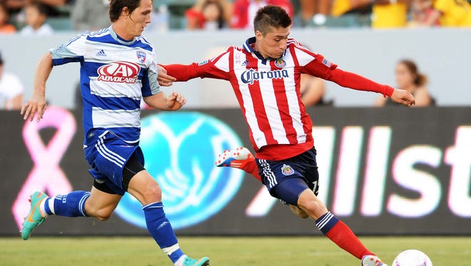 Jorge Villafana's late tally salvaged a draw for Chivas USA.