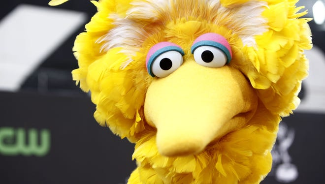 Big Bird, of the PBS children's television show Sesame Street, on a visit to Los Angeles in 2009.