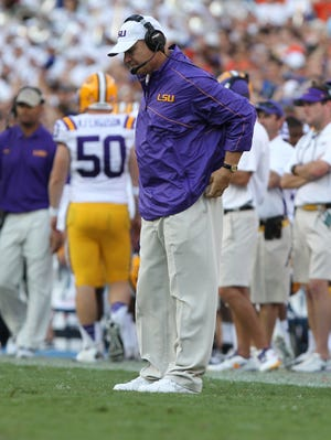 """""""There's still certainly a lot we can accomplish as a team,"""" LSU coach Les Miles said."""