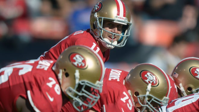 49ers quarterback Alex Smith (11) was in command Sunday against the Bills.