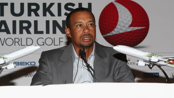 Tiger Woods plays this week in the inaugural Turkish Airlines World Golf Finals.