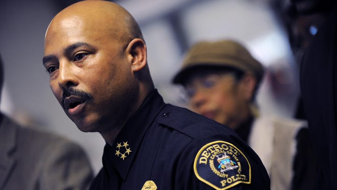 Detroit Police Chief Ralph Godbee speaks during a news conference at the Northeastern District Police Station in Detroit Jan. 5.